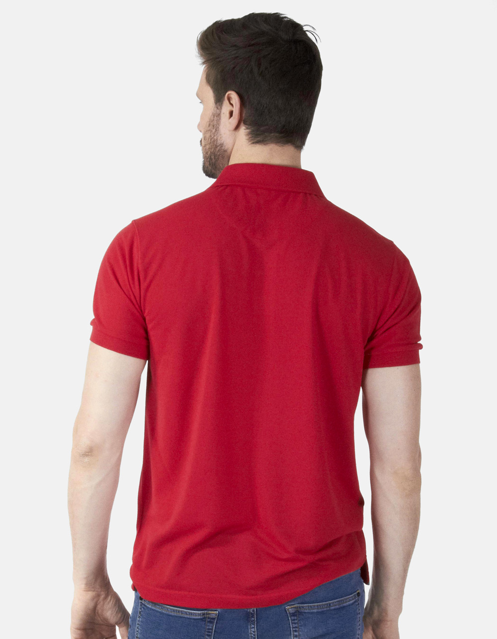 Polo piqué rojo - Backside