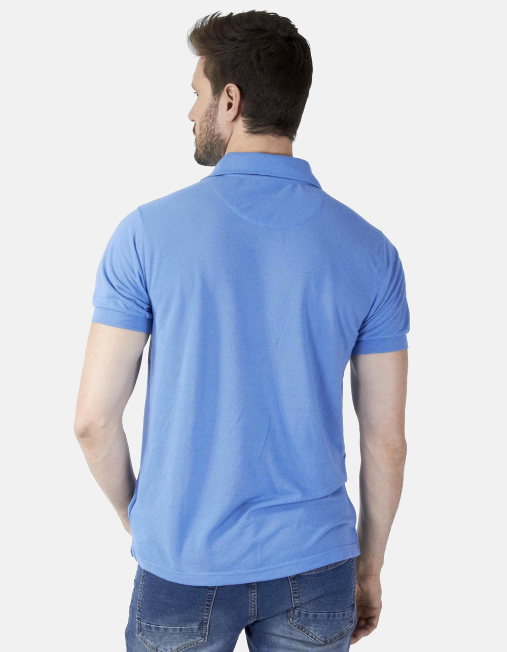 Polo piqué azulón - Backside