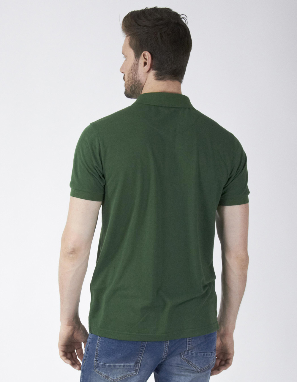 Polo piqué verde - Backside