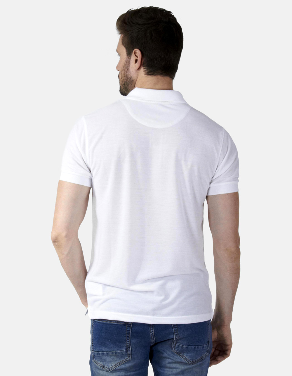 Polo piqué blanco - Backside