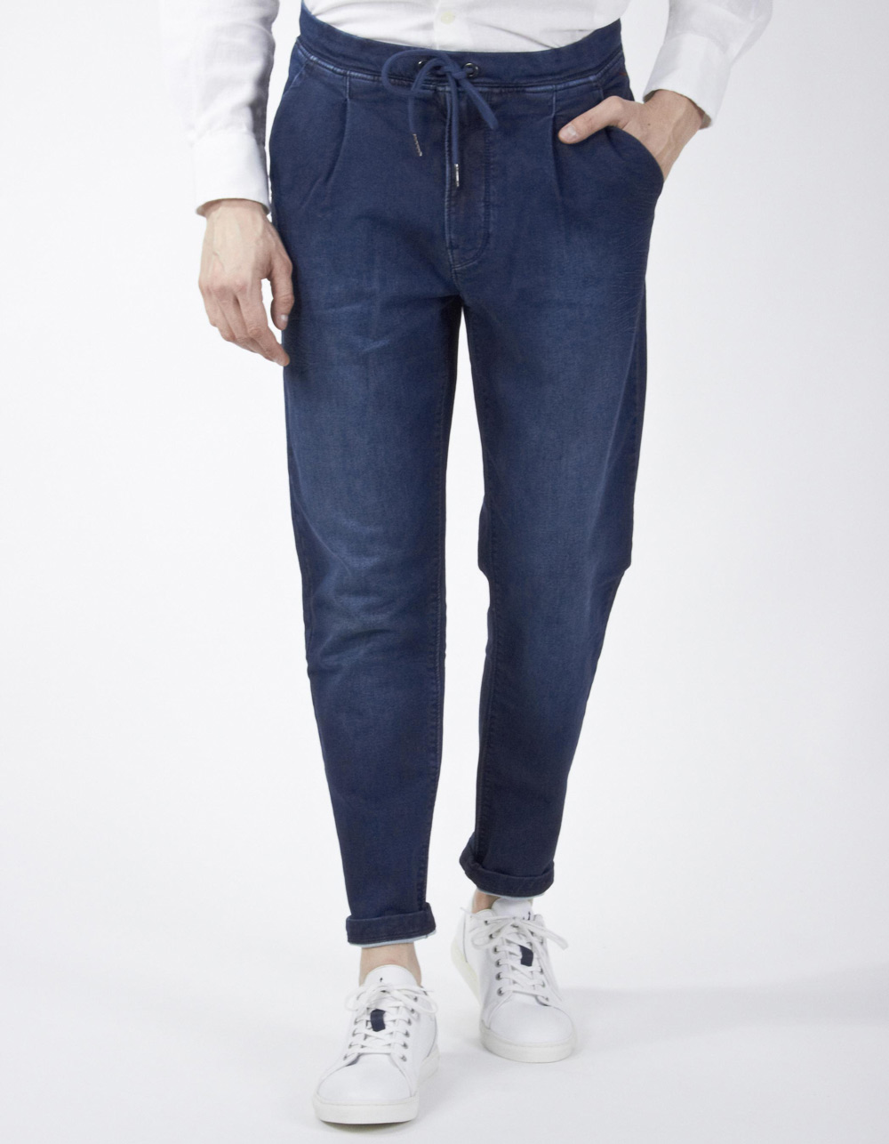 Dark navy blue jogging trousers