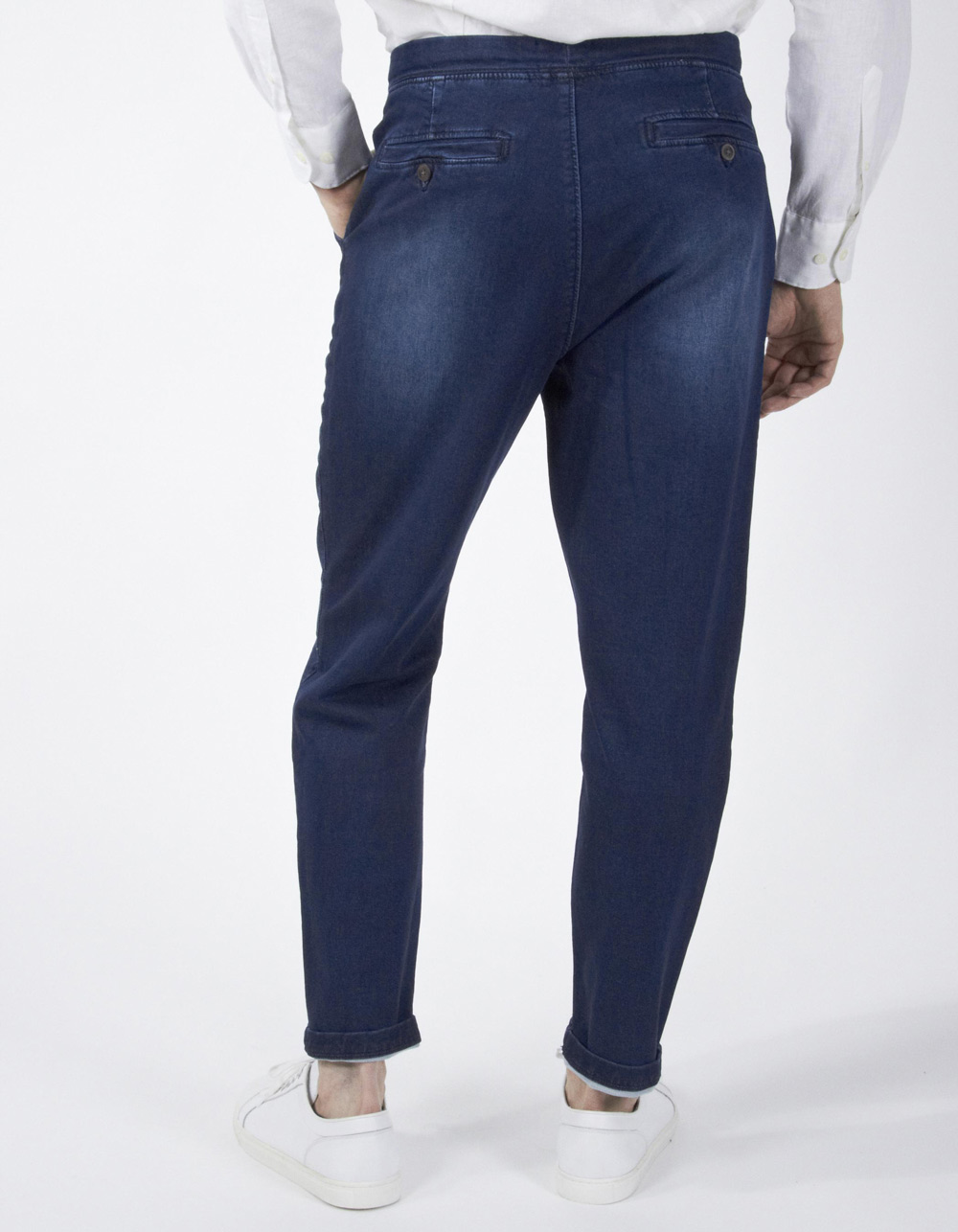 Dark navy blue jogging trousers - Backside