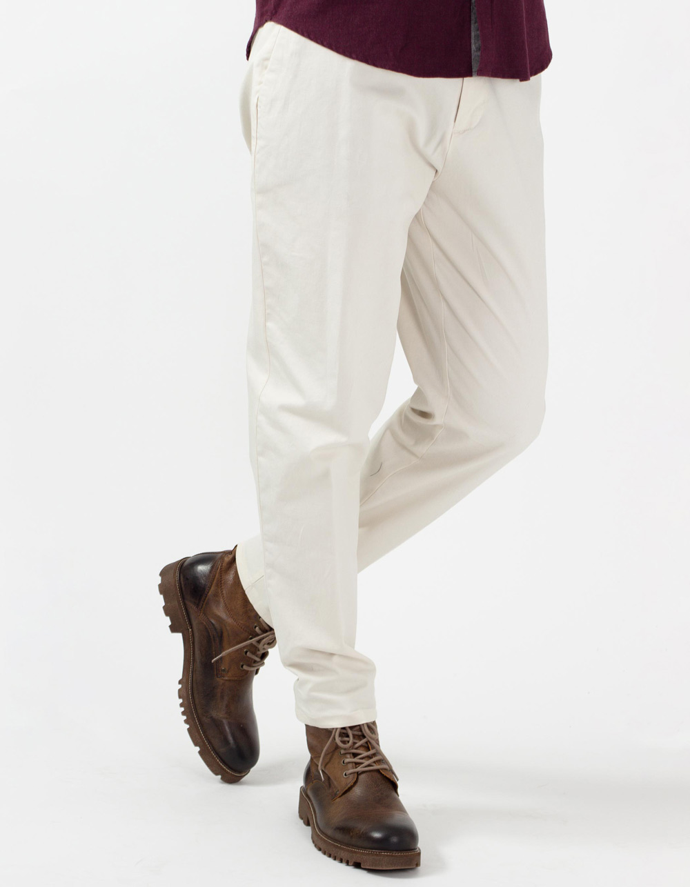 Ivory semi-dress stretch trousers