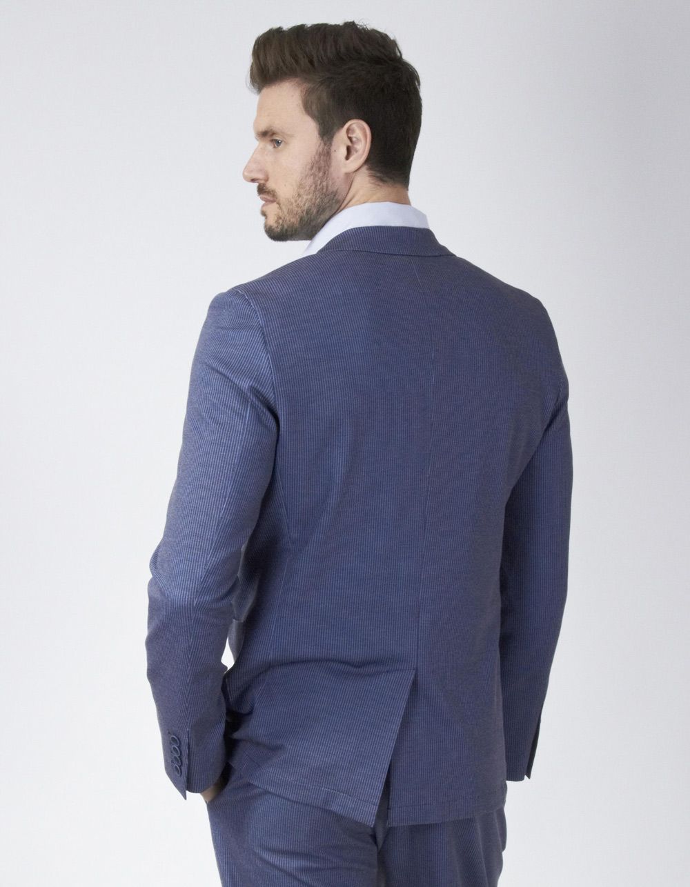 Blue striped blazer - Backside