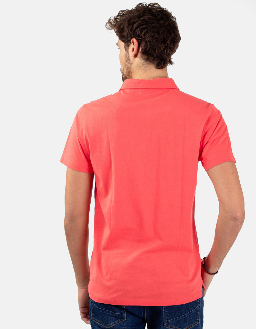 Coral pocket polo shirt - Backside