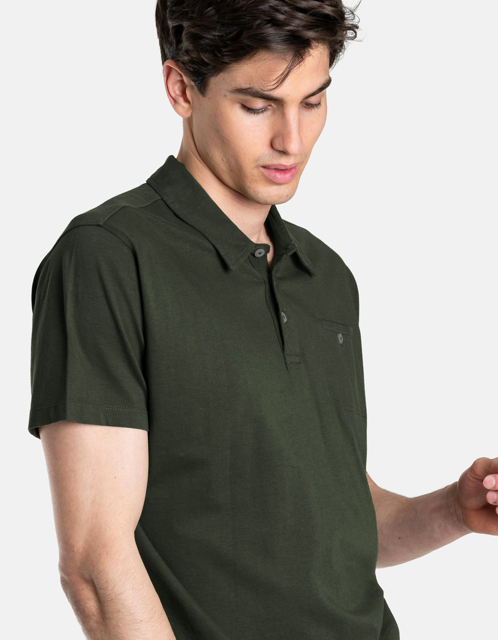 Kakhy pocket polo shirt