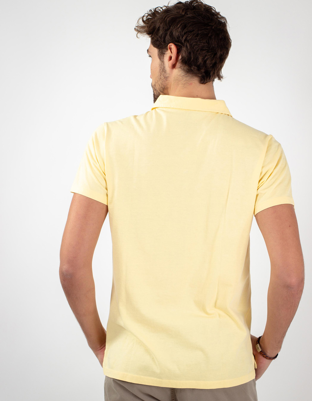 Yellow pocket polo shirt - Backside