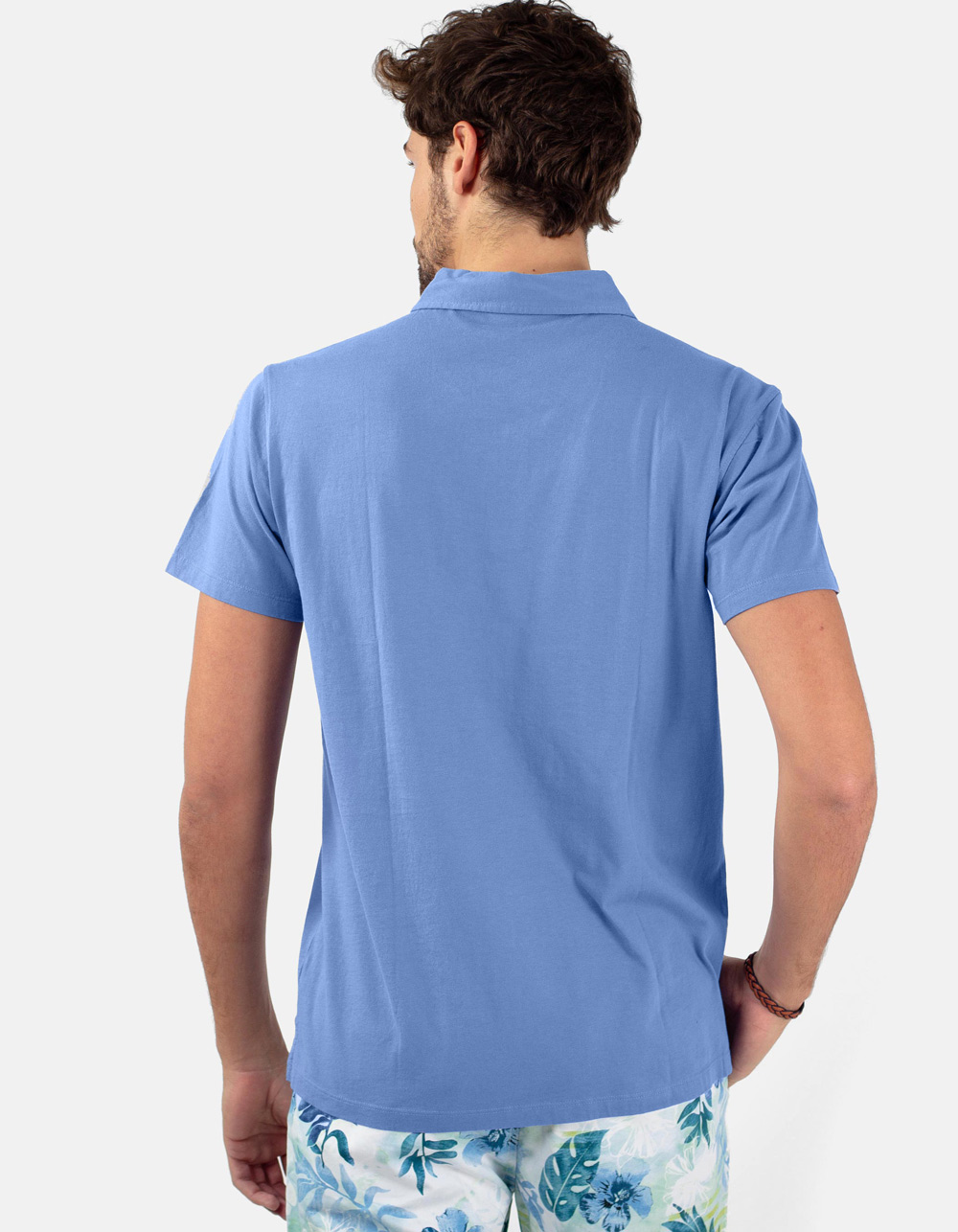 Royal blue pocket polo shirt - Backside
