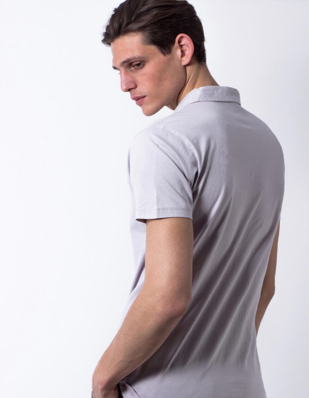 Light grey pocket polo shirt - Backside