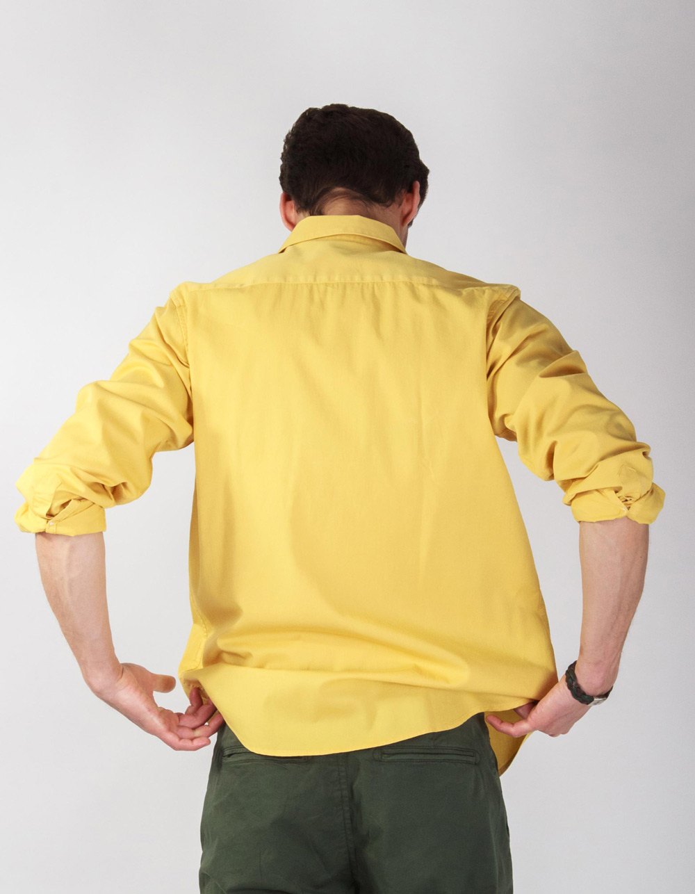 Mustard plain shirt - Backside
