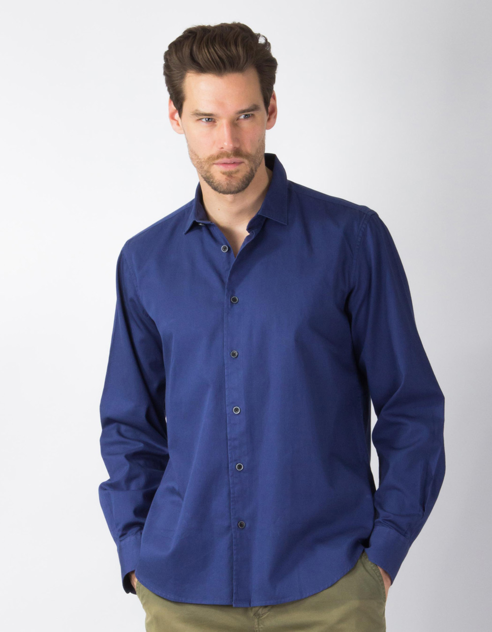 Navy blue plain shirt