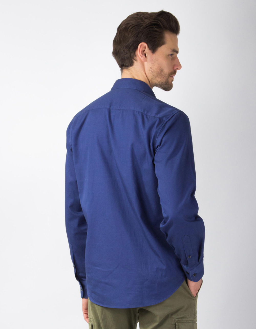Navy blue plain shirt - Backside