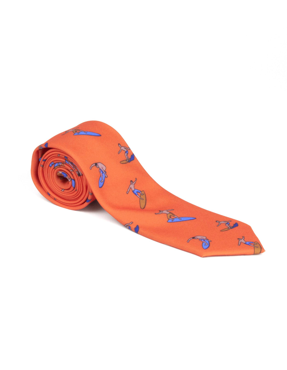Orange surfer tie