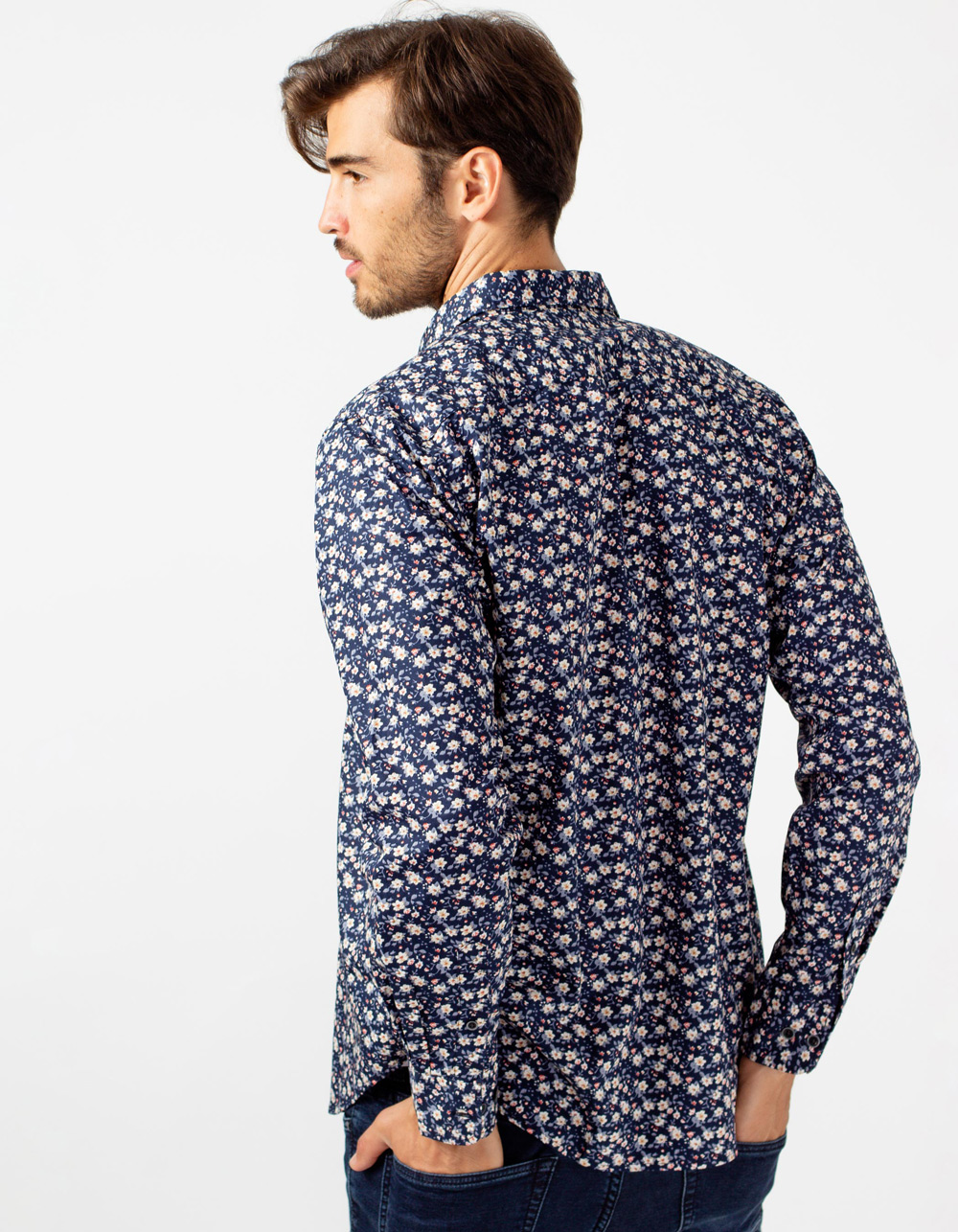 Flower print shirt - Backside