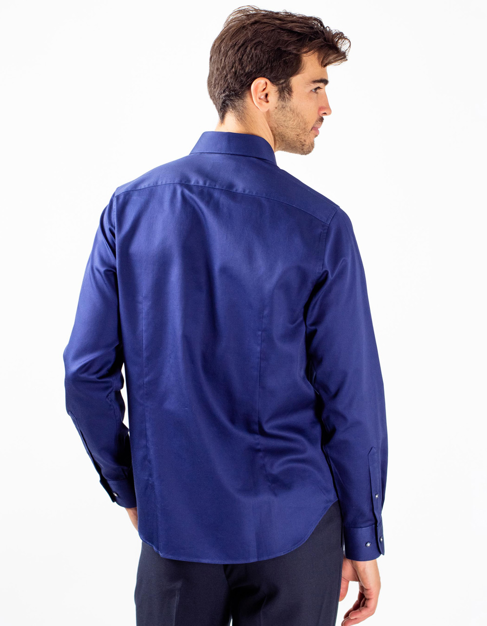 Navy plain shirt - Backside