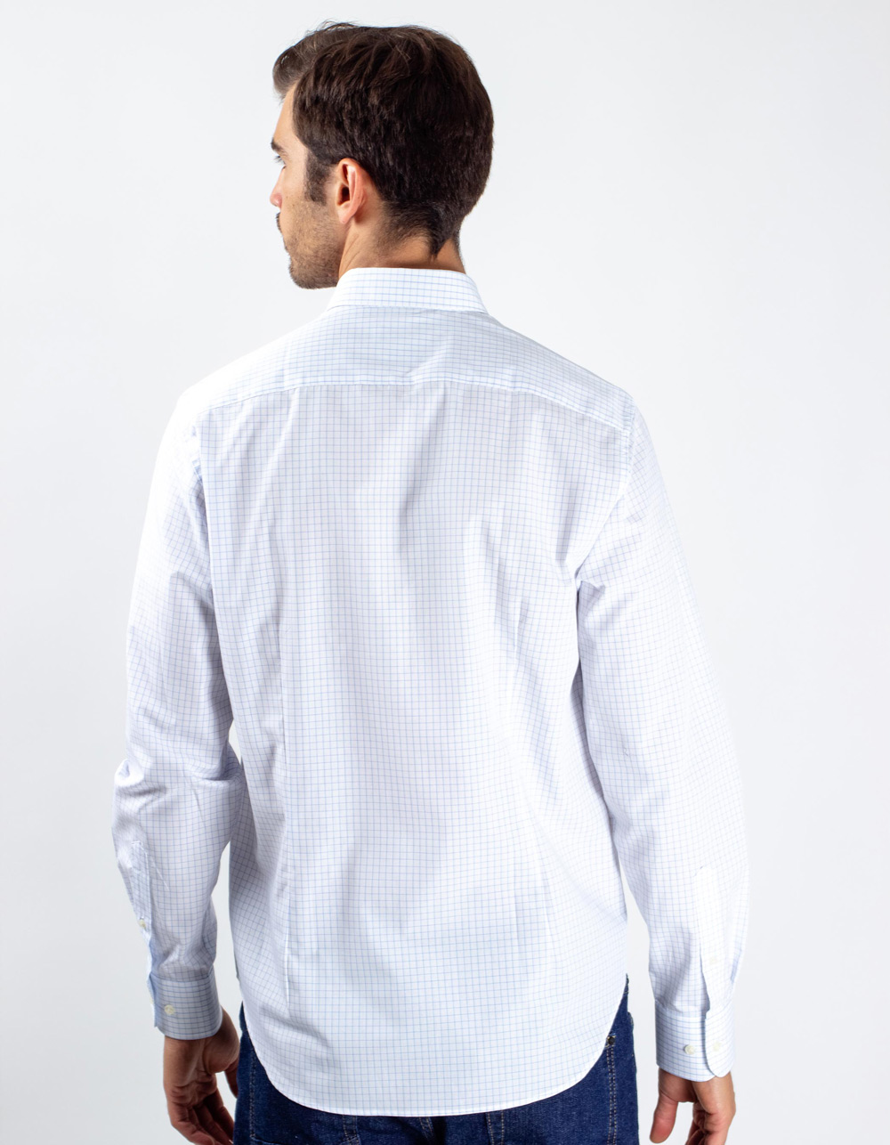 Long sleeve checkered shirt - Backside