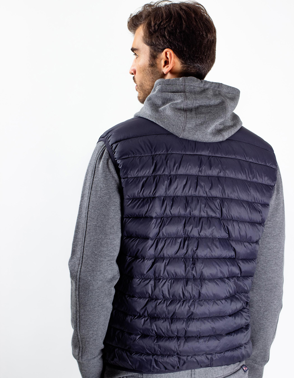 Dark Navy quilted vest - Backside