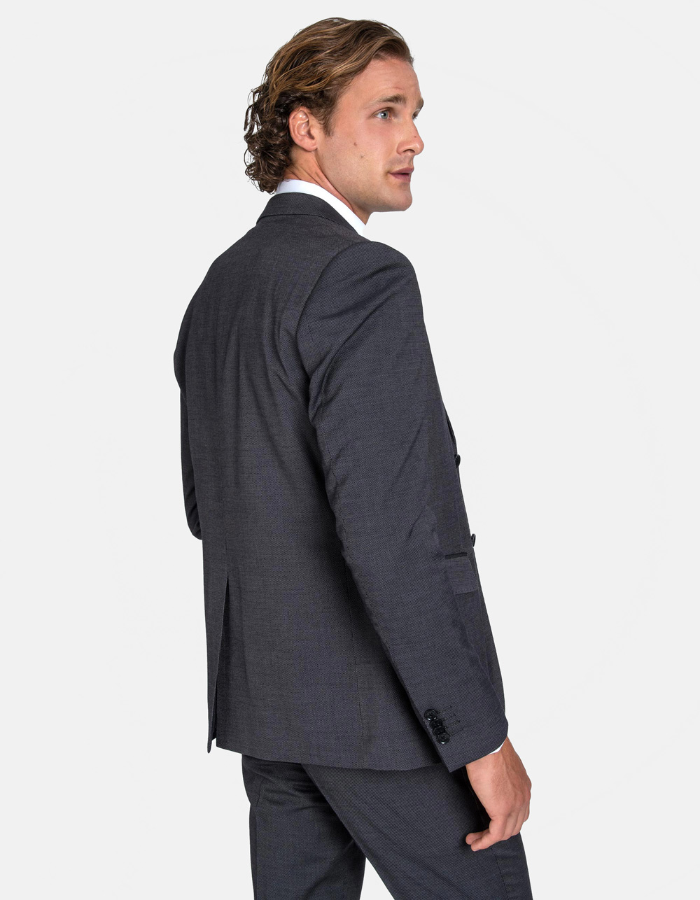 Grey birdseye suit - Backside