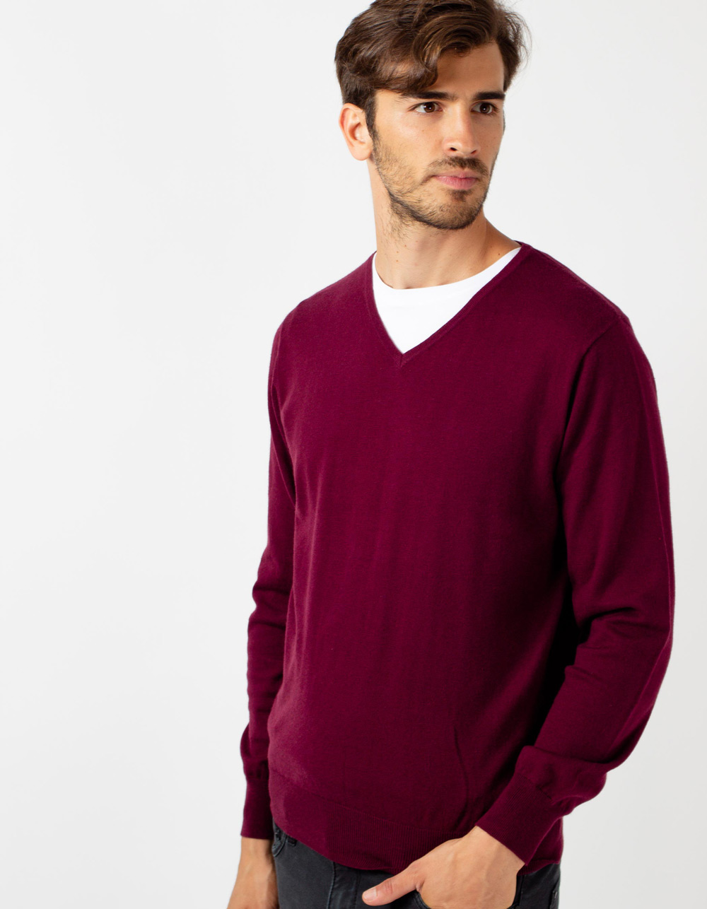 Garnet v-neck sweater