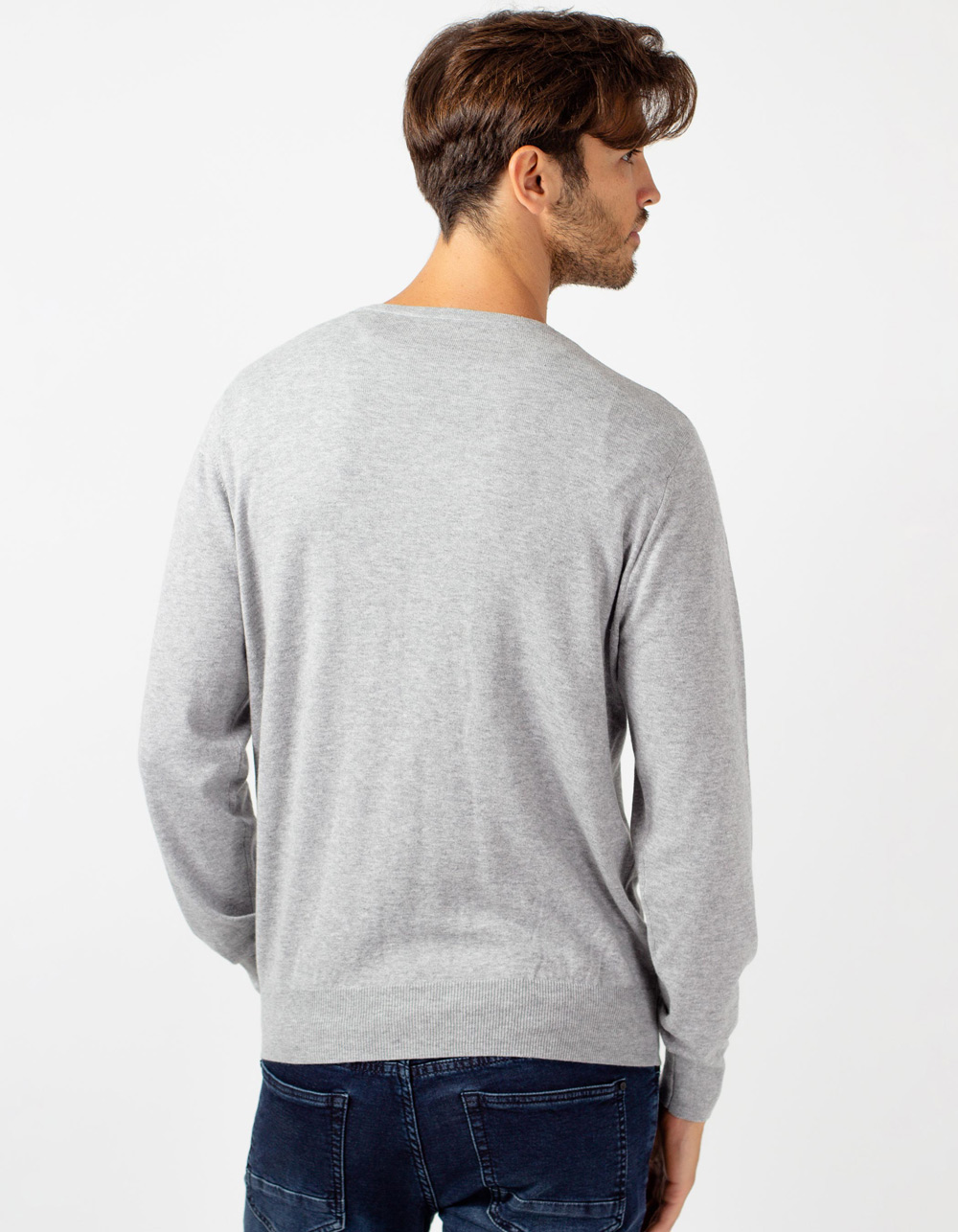 Jersey de cuello pico gris claro - Backside