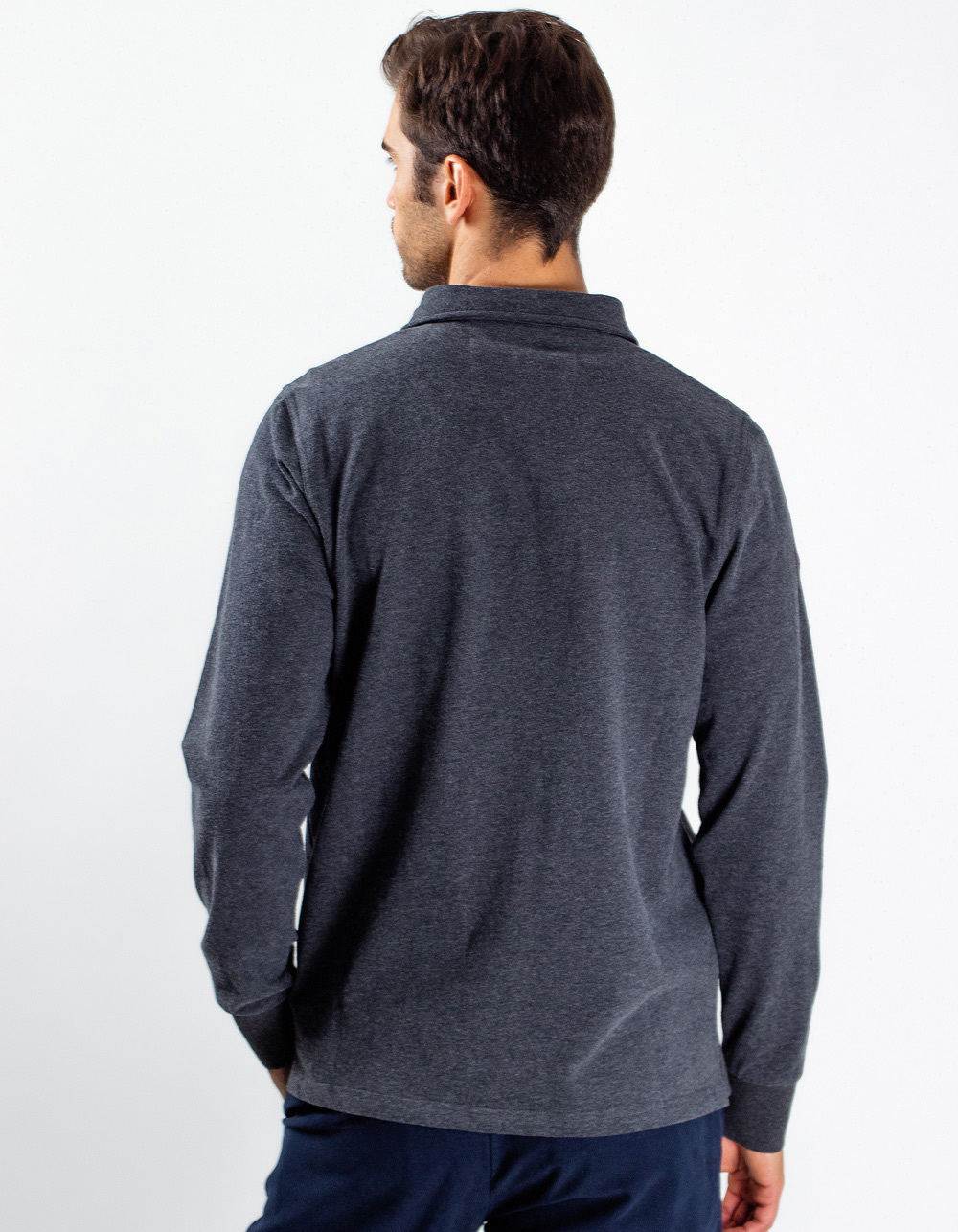 Grey polo MCS Expedition - Backside