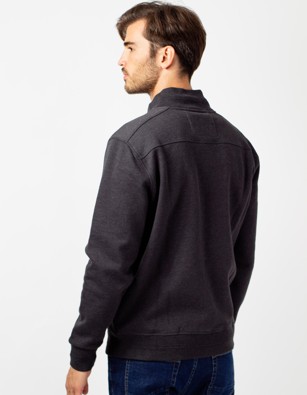 Grey zip jacket - Backside