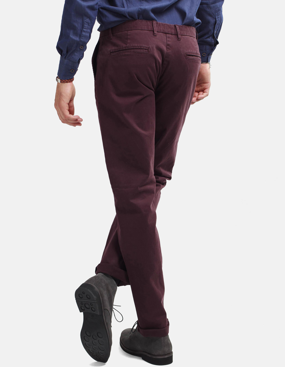 Burgundy chinos trousers - Backside