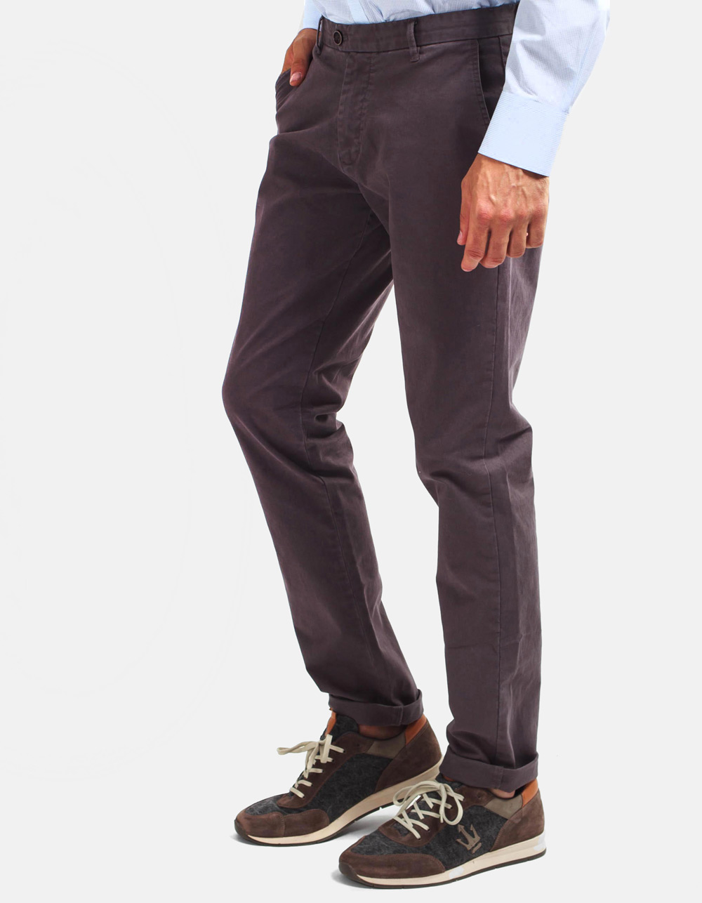Grey chinos trousers