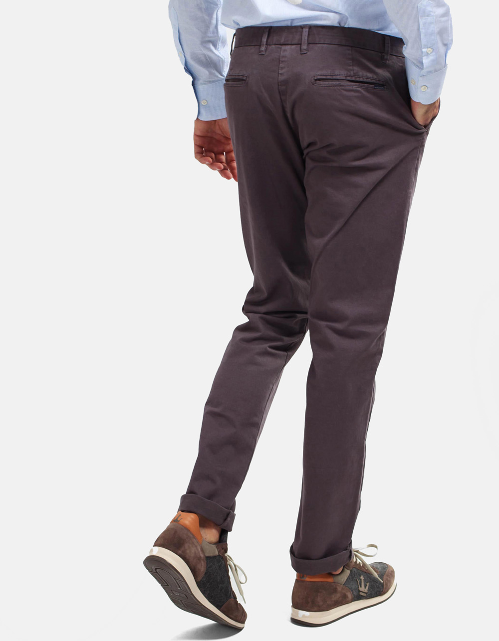 Grey chinos trousers - Backside