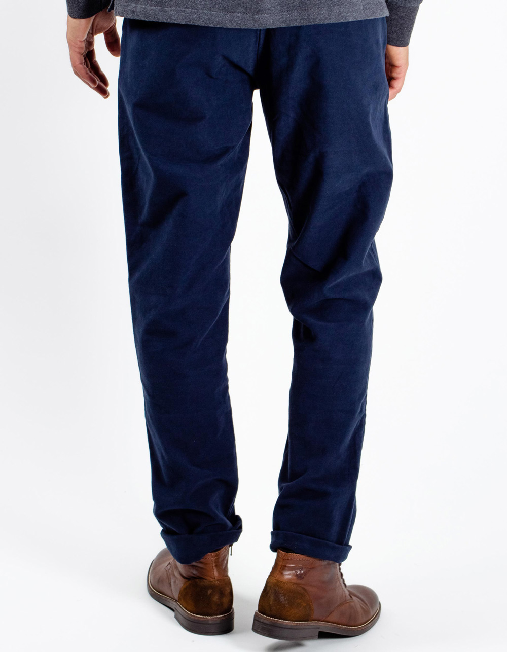 Dark Navy chinos trousers - Backside