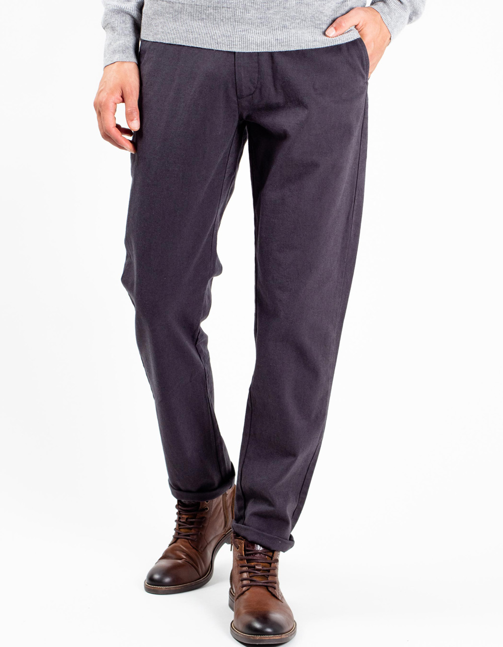 Dark grey chinos trousers