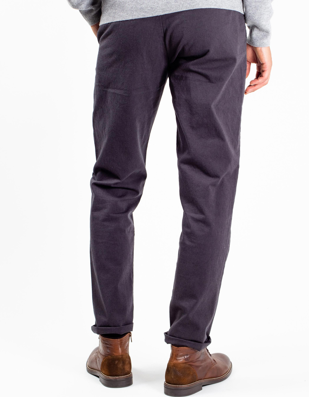 Dark grey chinos trousers - Backside