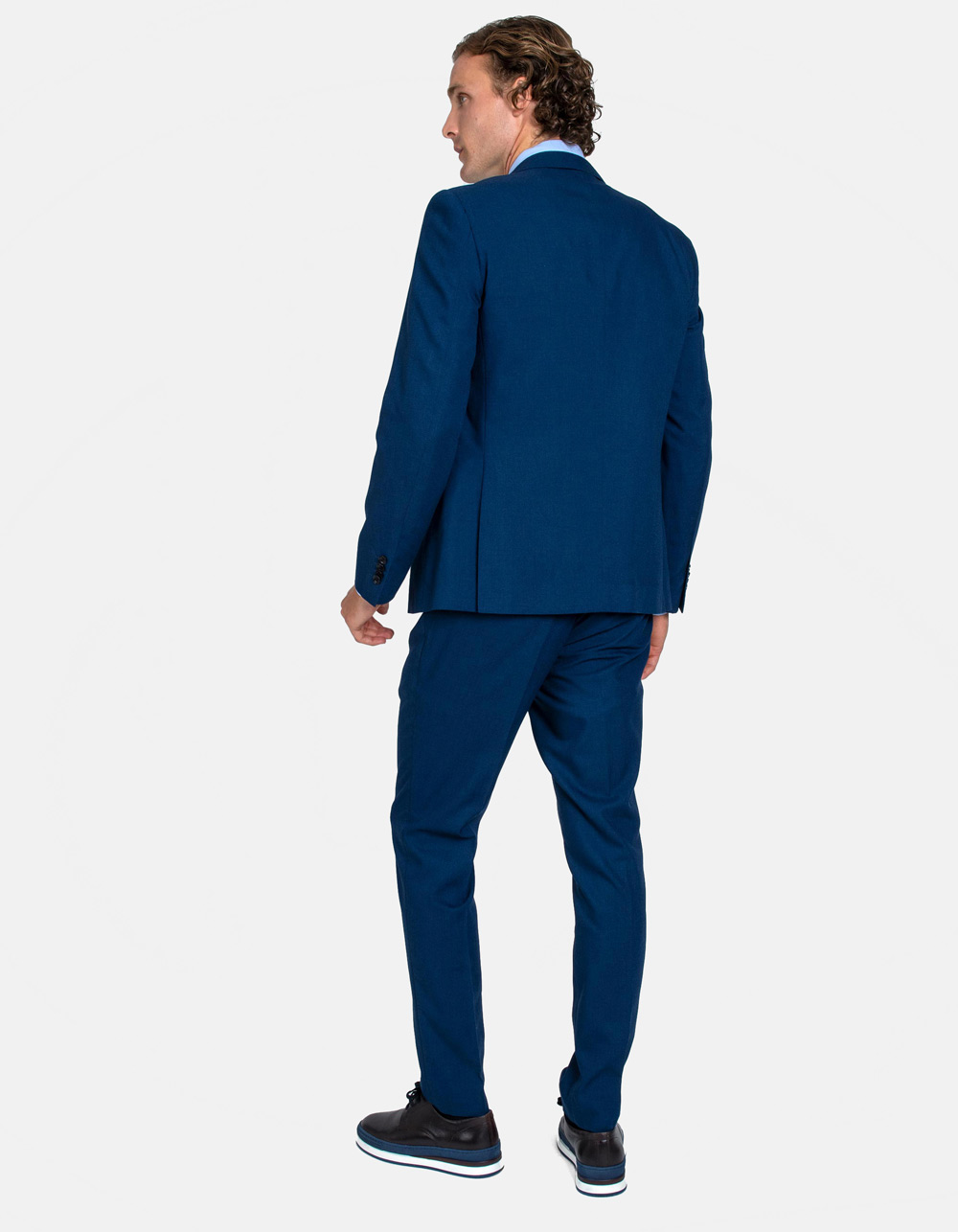 Blue plain suit - Backside