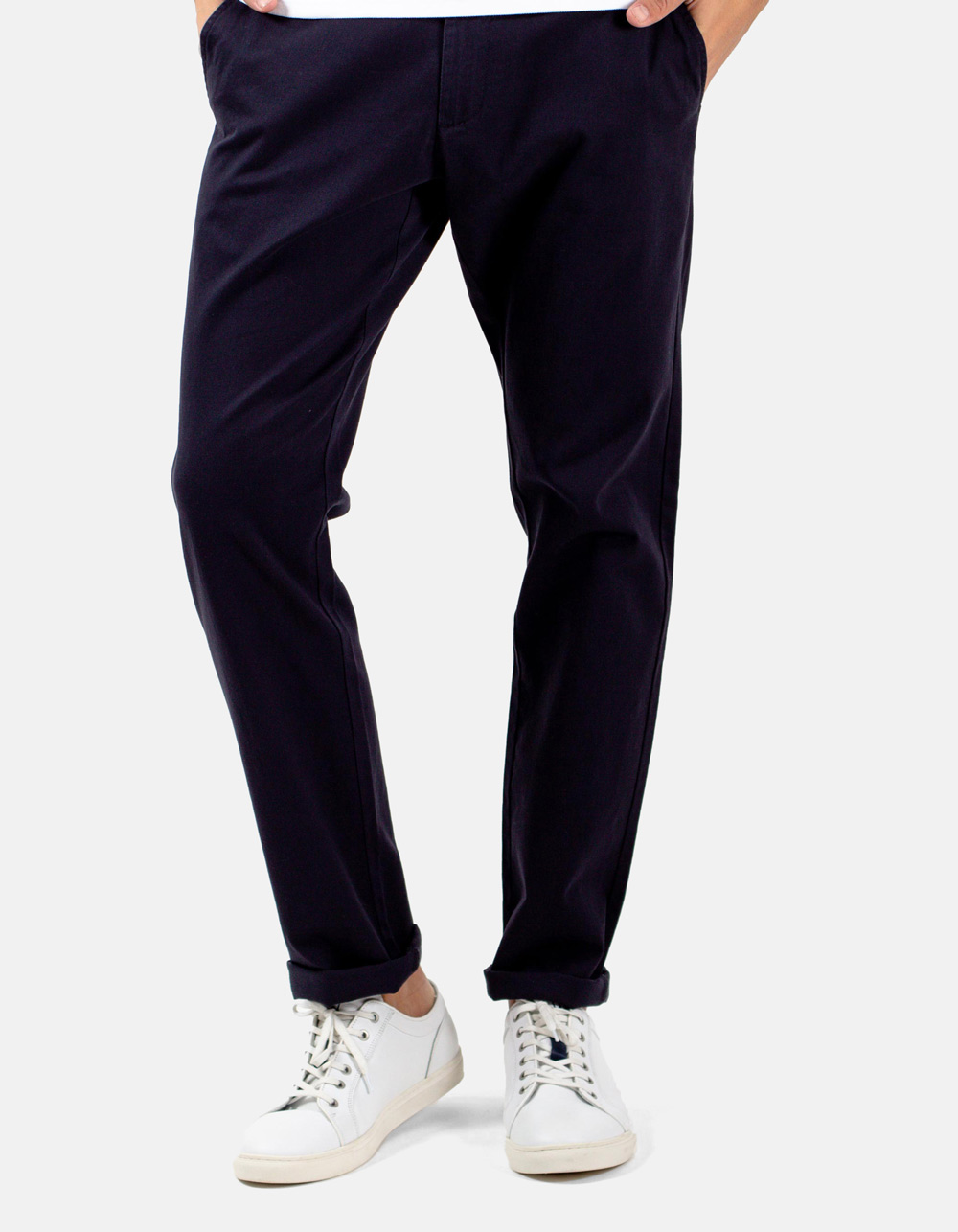 Basic chino dark navy trousers