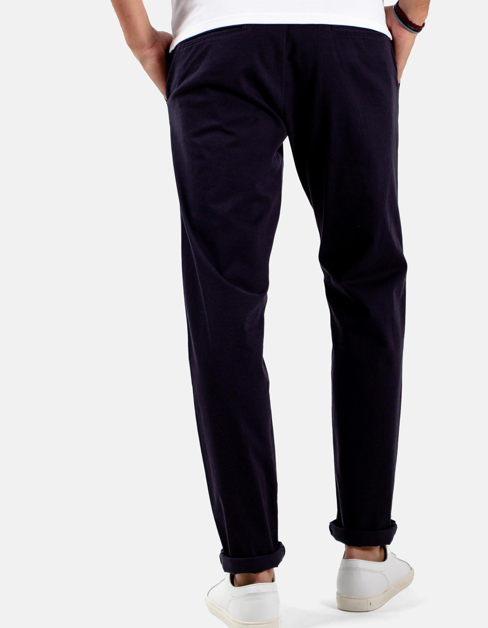 Basic chino dark navy trousers - Backside