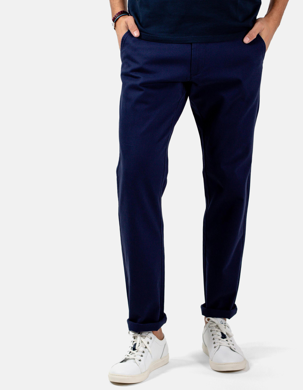 Basic chino blue trousers