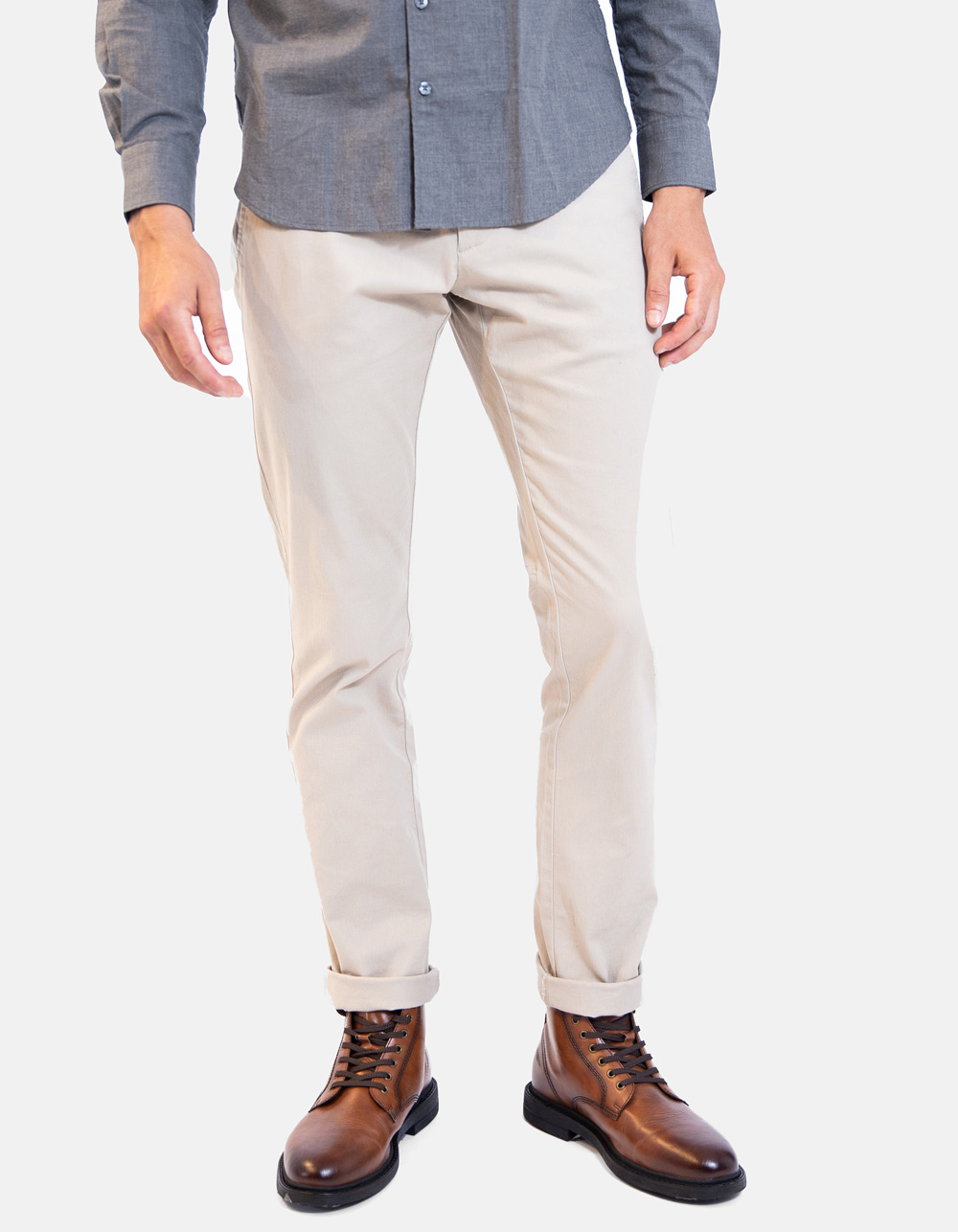 Basic chino beige trousers