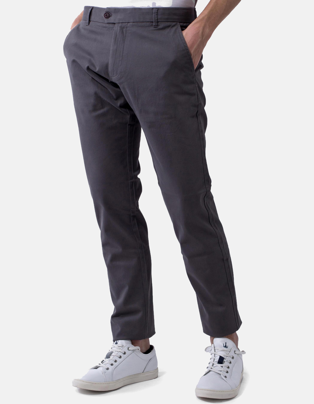 Basic chino grey trousers