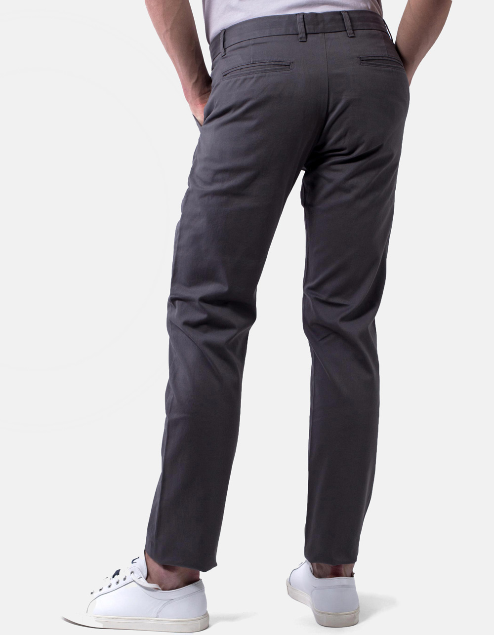 Pantalón chino Gris - Backside