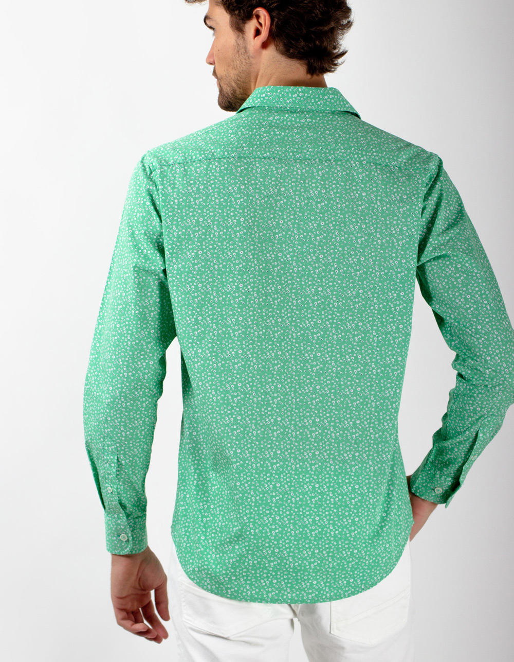 Camisa verde flores - Backside