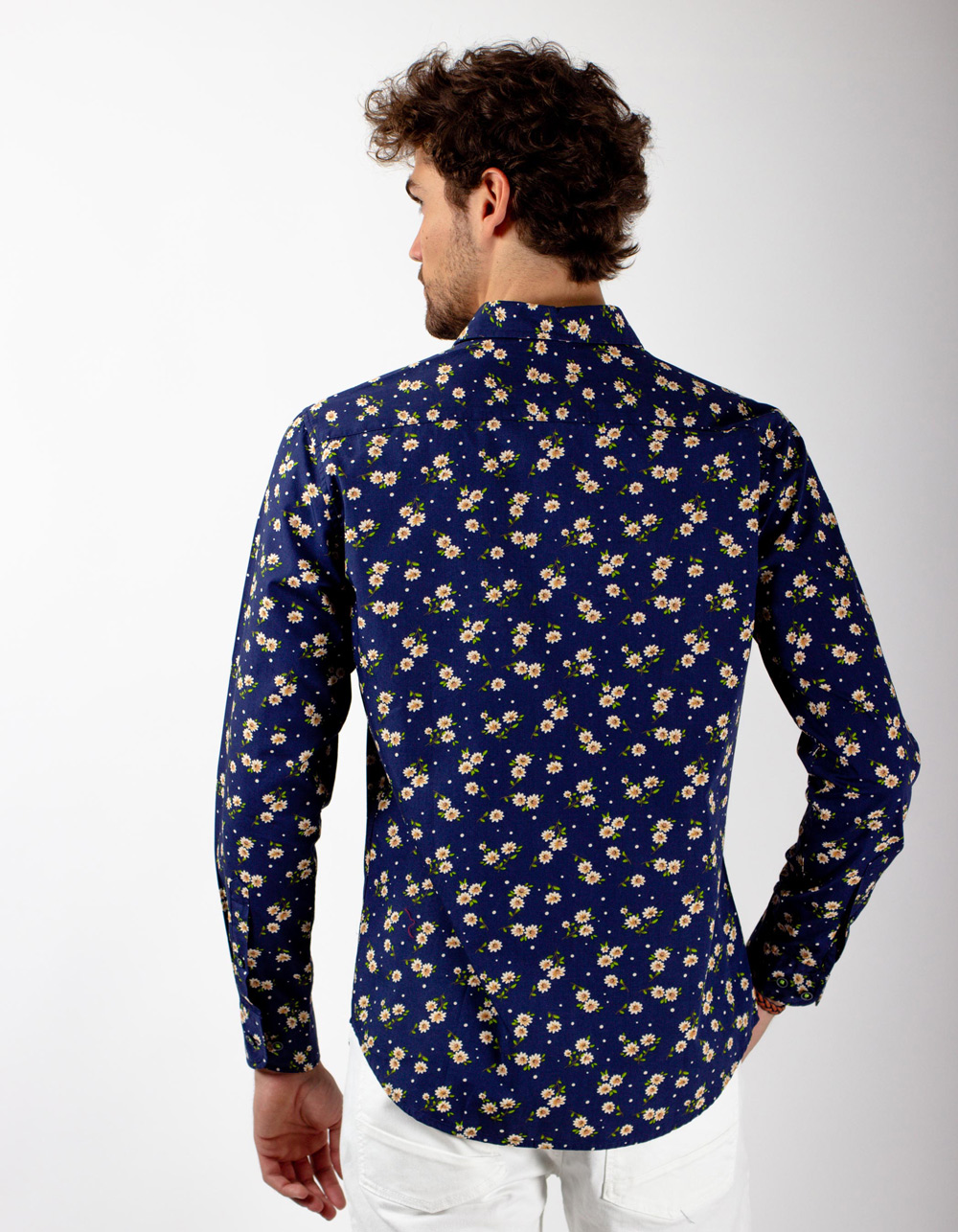 Camisa tejano oscuro y flores - Backside