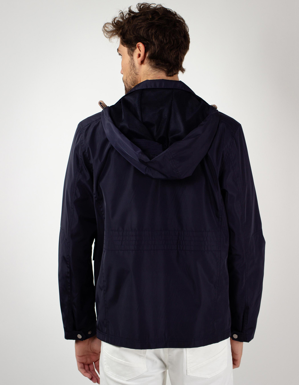 Navy sport parka - Backside