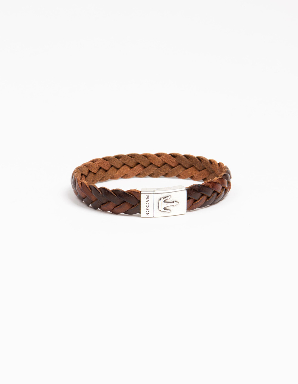 Braided bracelet brown