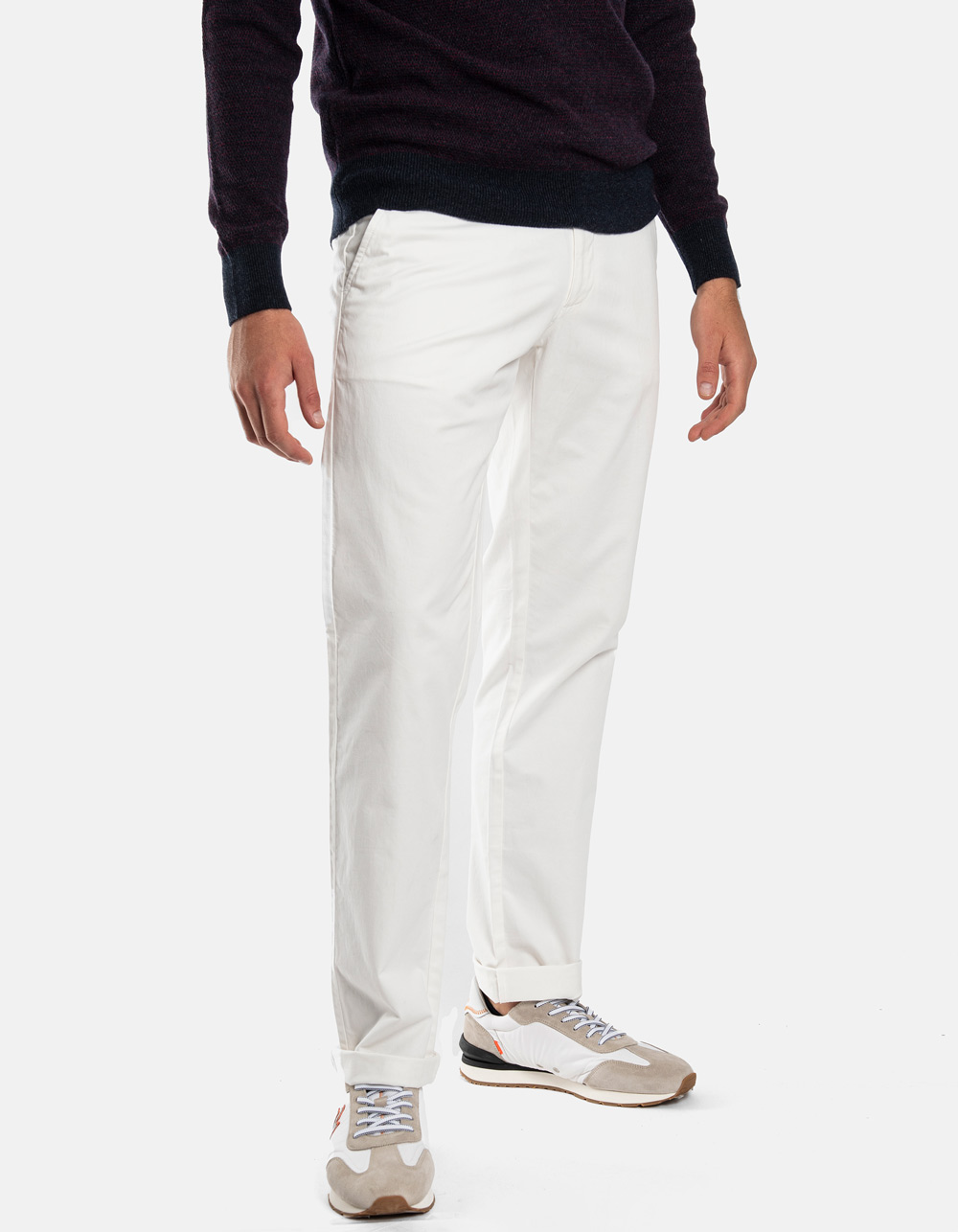 White chino trousers