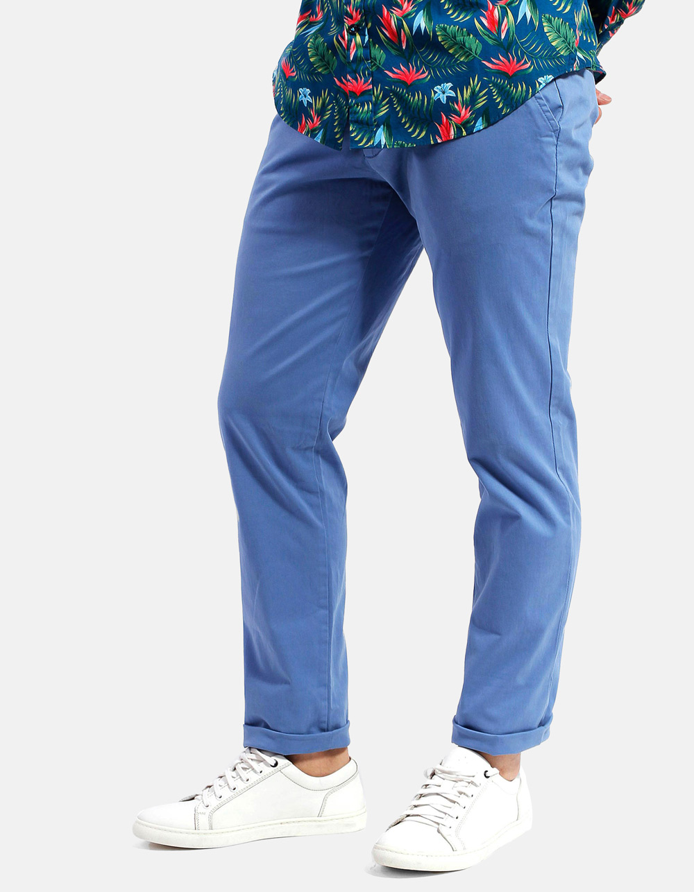 Blue chinos trousers