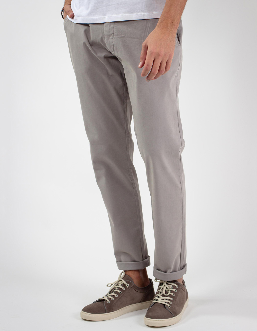 Light grey chinos trousers
