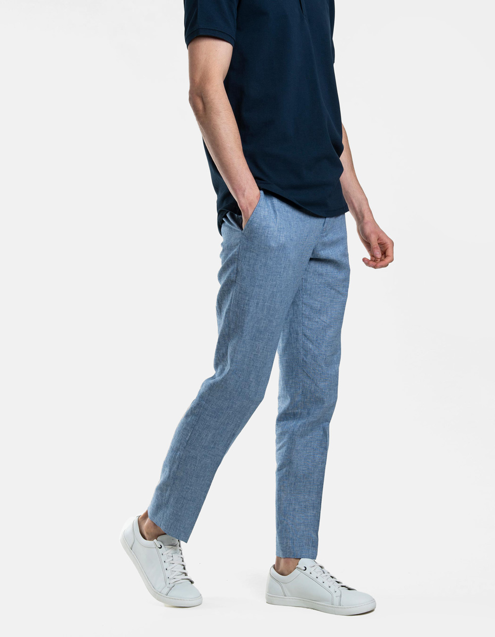 Blue plain trousers
