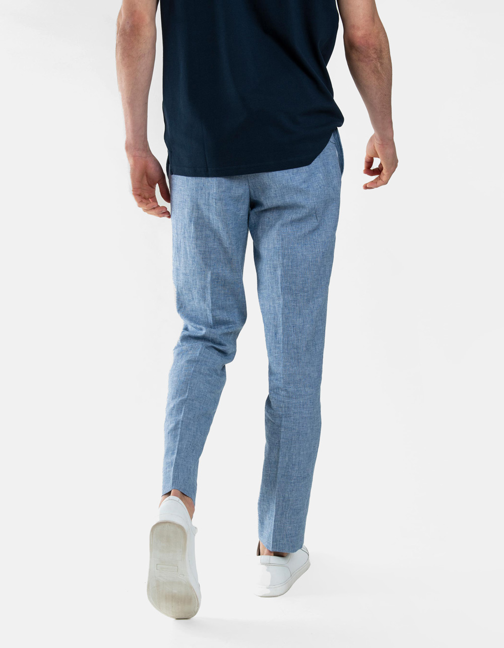 Blue plain trousers - Backside