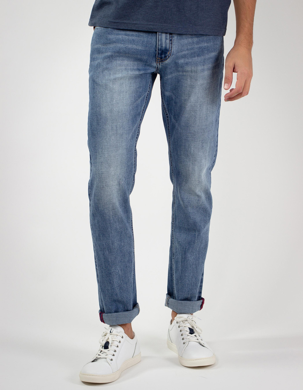 Medium light blue jeans