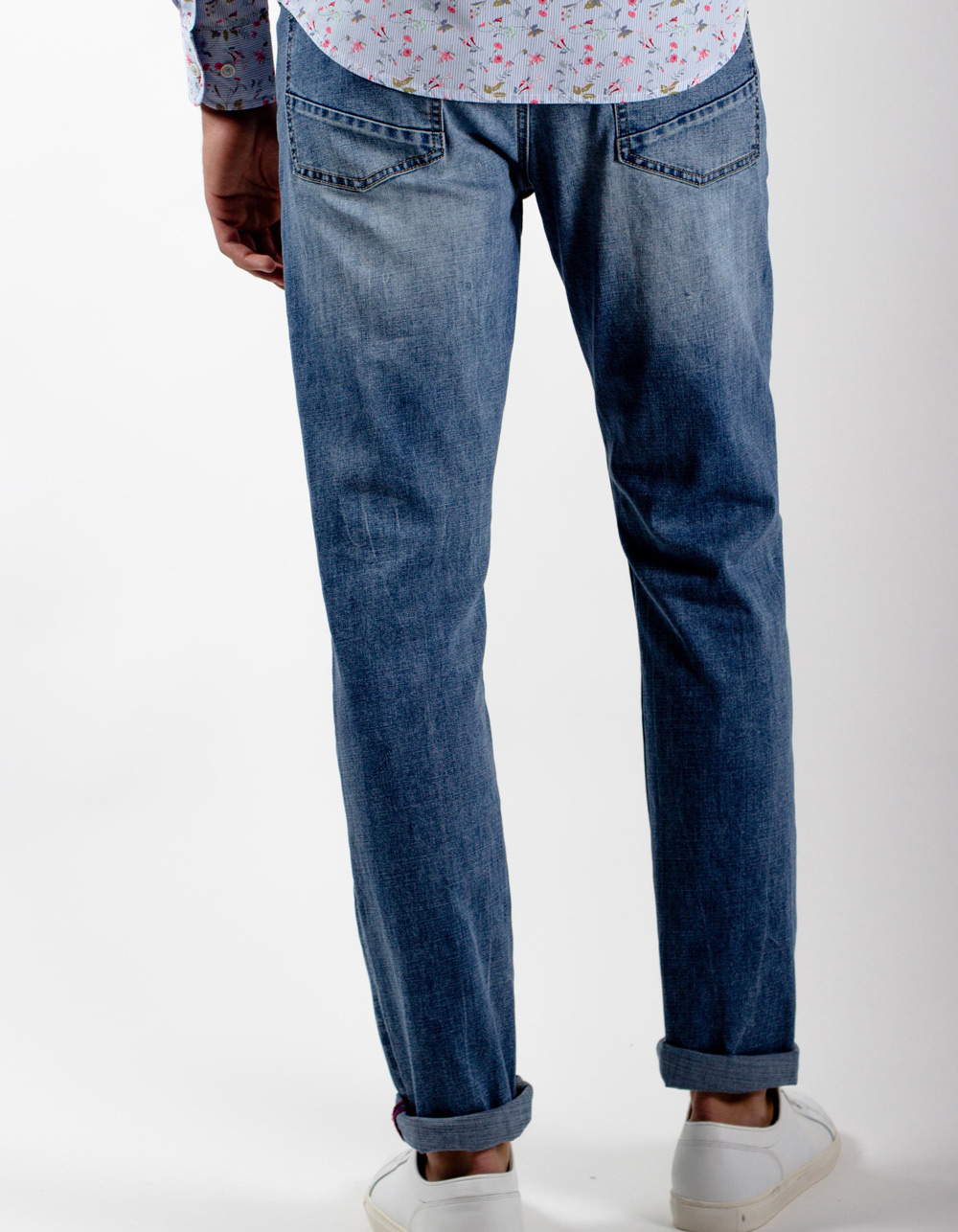 Medium light blue jeans - Backside